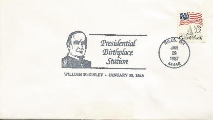 McKinley 87-01-29 Special Event Cover #11