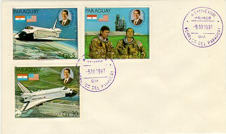 Paraguay Space FDC #2