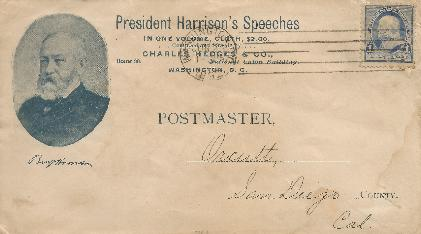 Harrison' 1892-06-23 Speeches Special Event Cover