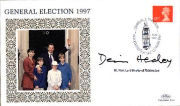 1997 General Election Dennis Healey signed