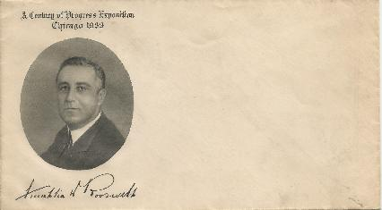 Grimsland FDR unused envelope