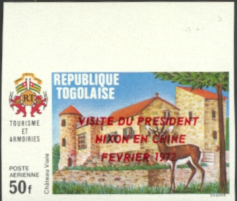 Togo Nixon Visit to China #4 Overprint