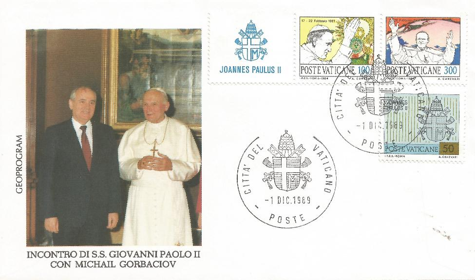 Vatican City Gorbachev  Visits Pope