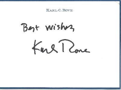 Karl Rove, Advisor (George W Bush)
