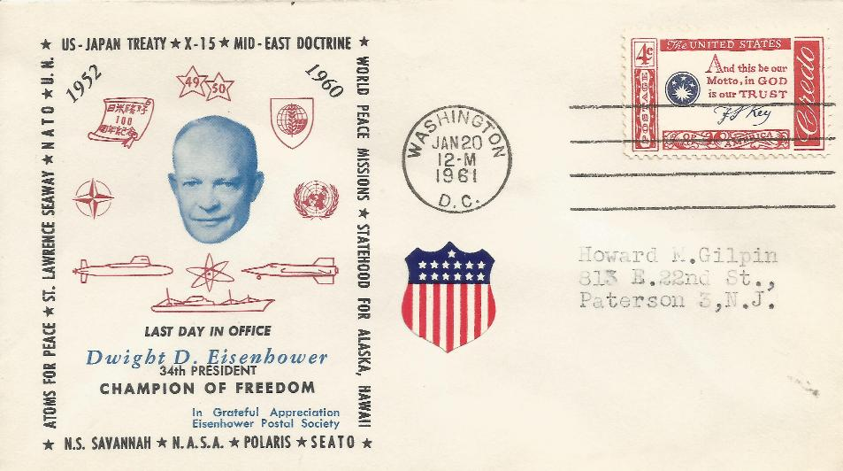 JFK-12 Eisenhower Philatelic Society #2