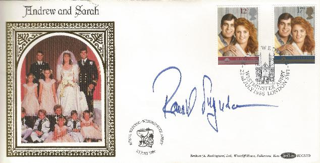 86 Royal Wedding signed by Major Ferguson