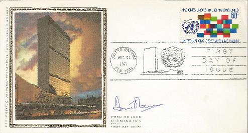 1971 United Nations signed by David Owen