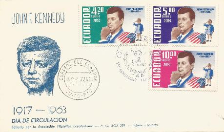 Ecuador JFK Memorial FDC 11-22-64