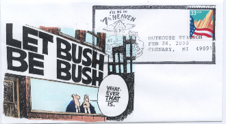 Let Bush be Bush cartoon