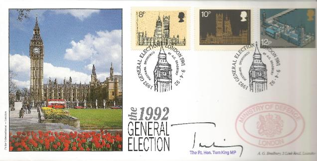1992 General Election Tom King signed