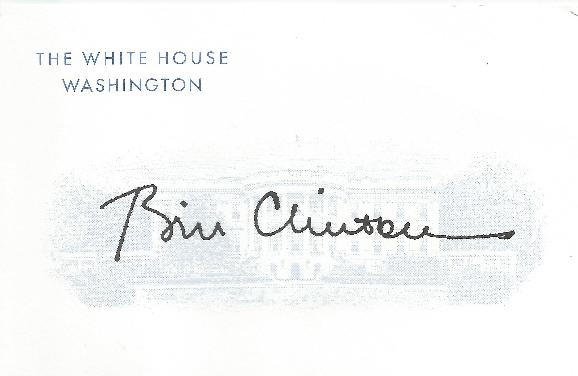 Bill Clinton Calling Card