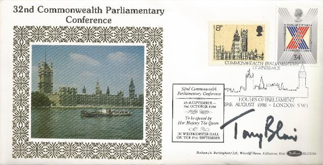 Tony Blair, Prime Minister Signed Commonwealth Cover
