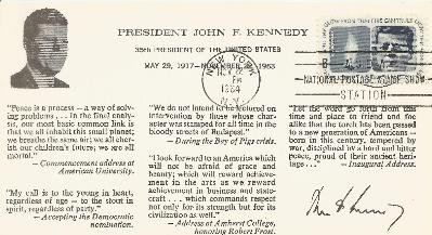 11-22-64 JFK Quotes postcard