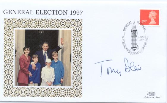 1997 Election Day Tony Blair signed