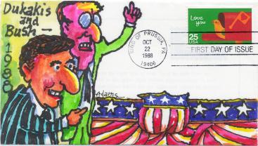 Dukakis and Bush