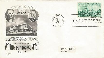 LBJ 64-04-22 World's Fair FDC