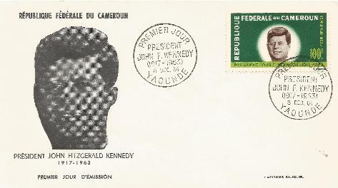 Cameroun JFK Memorial FDC 12-8-64