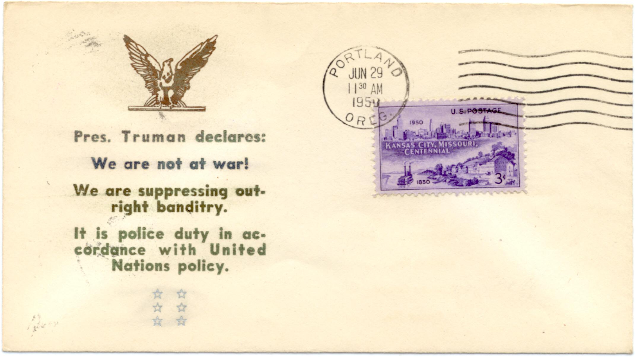 """""""Pres. Truman declares..."""""""