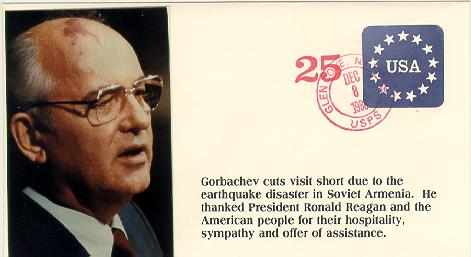 Gorbachev cuts visit short