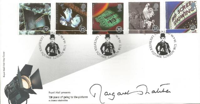 96 100 years of Cinema FDC Signed by Thatcher