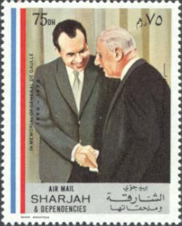 Sharjah 3a De Gaulle Memorial 75DH