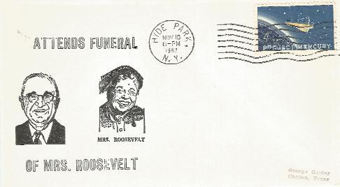 HST attends Mrs Roosevelt Funeral