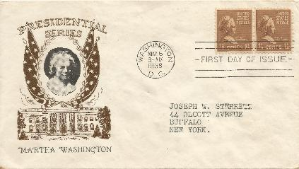 38-05-05 Martha Washington FDC Prexy