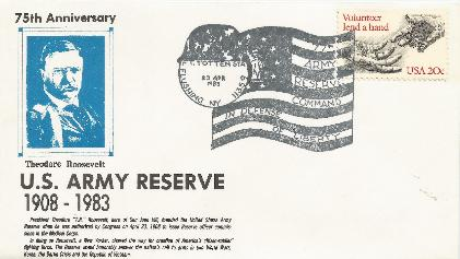 75th Anniversaey Army Reserve Special Event Cover