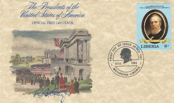 Liberia Presidential Set of FDC's