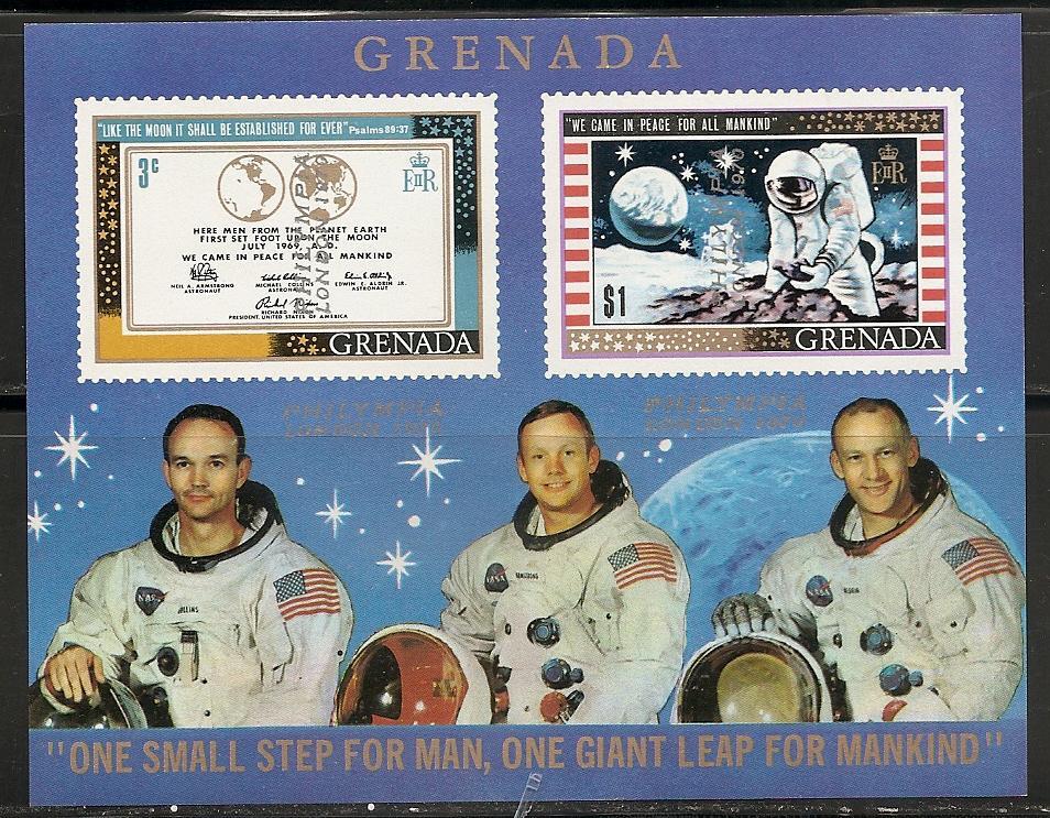 Grenada Moon Landing #3 Overprint