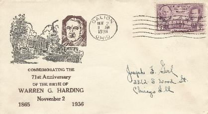 Harding 36-11-02 71st Birthday