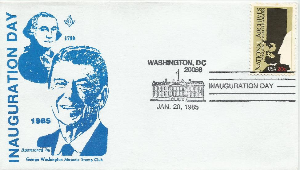 RWR-II-025  Reagan Inaugural Masonic