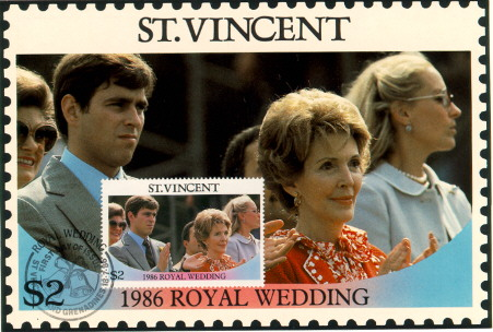 St Vincent Royal Wedding FDC #2