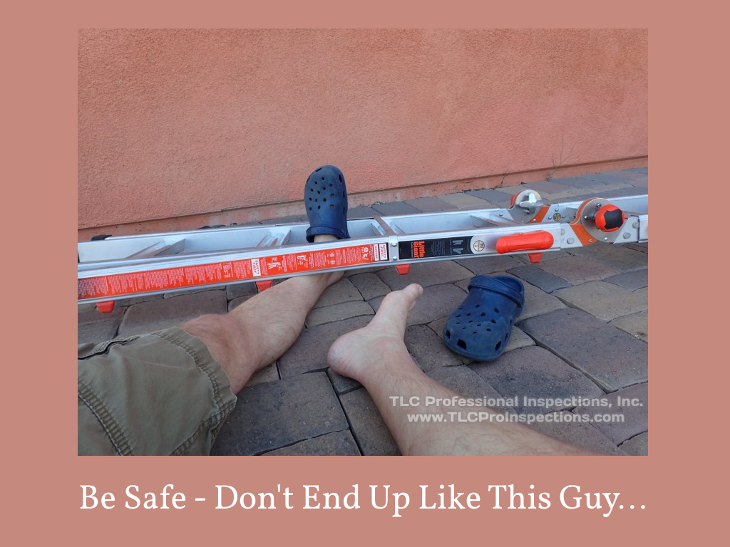 Home maintenance safety - don't be this guy