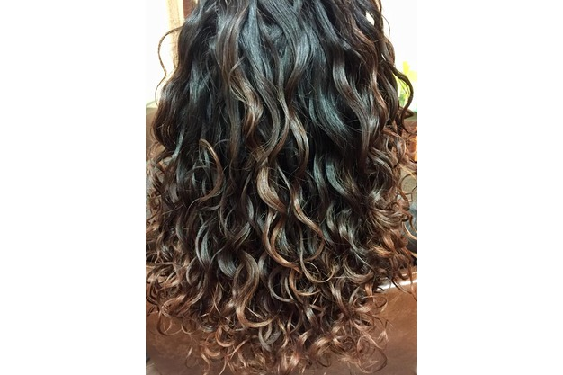 Curly Hair Color Melt