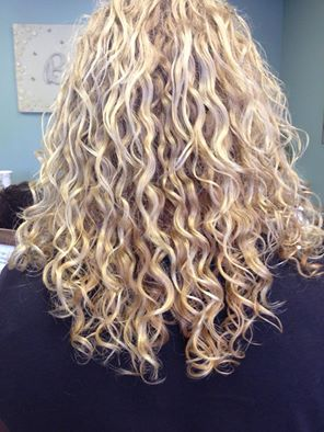 curly hair at bella salon and spa