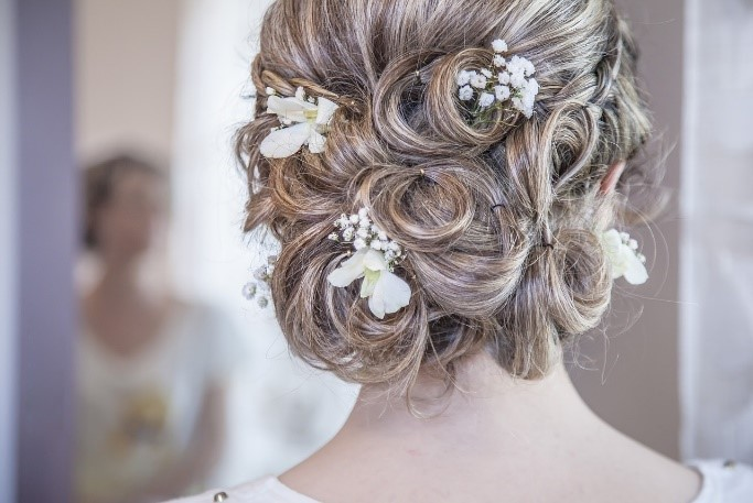 wedding day up do