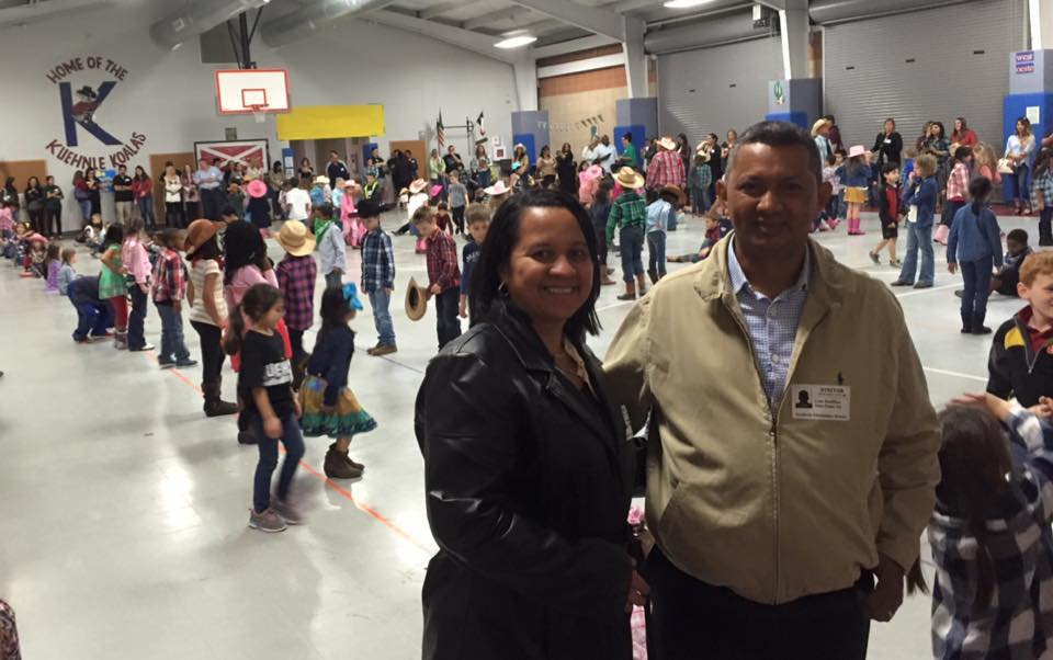 Leo and Yesenia enjoyed the Rodeo Day at a school