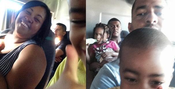 Riding the bus from La Ceiba to Saba