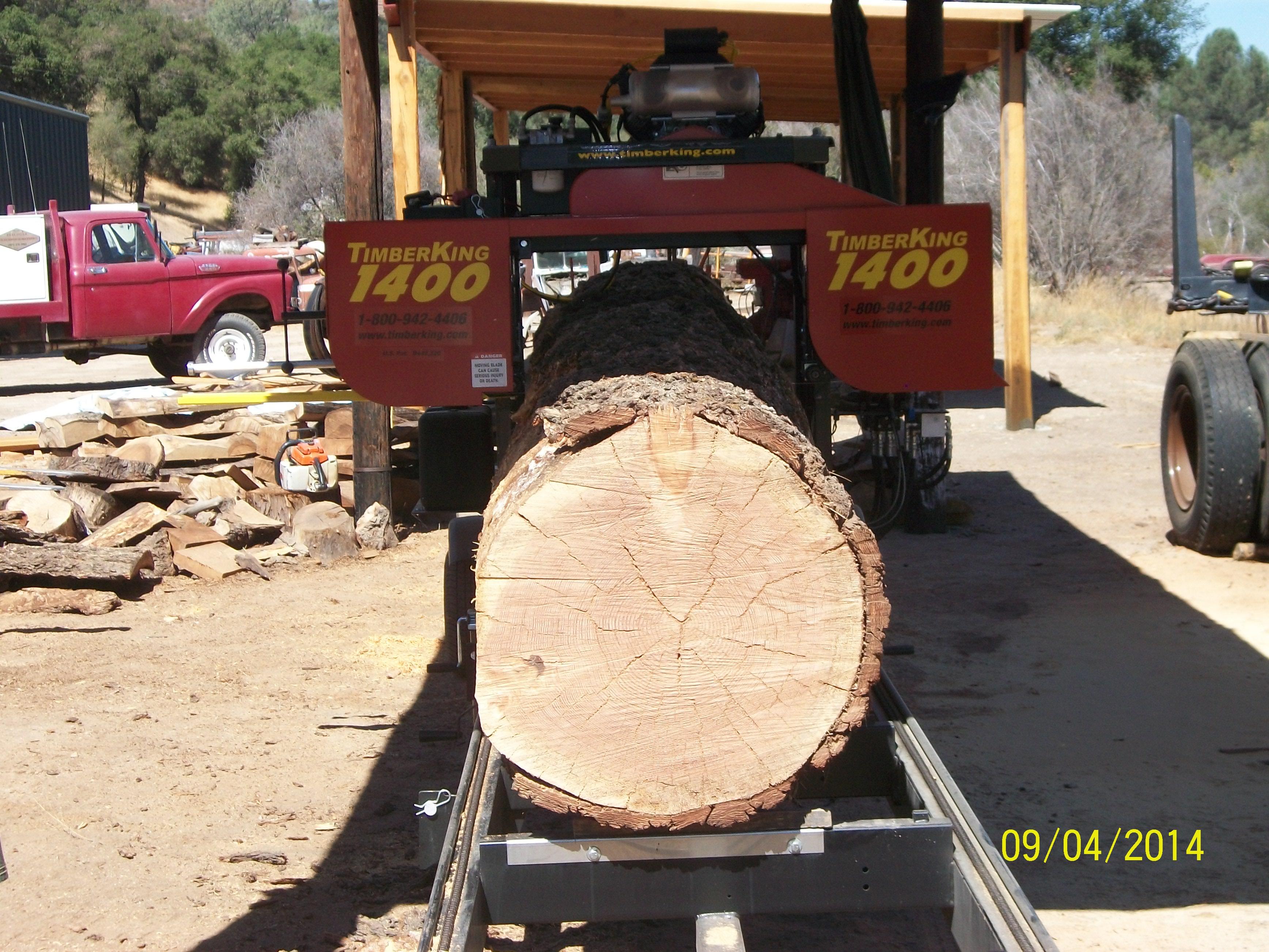 Milling lumber at Creston Sawmill