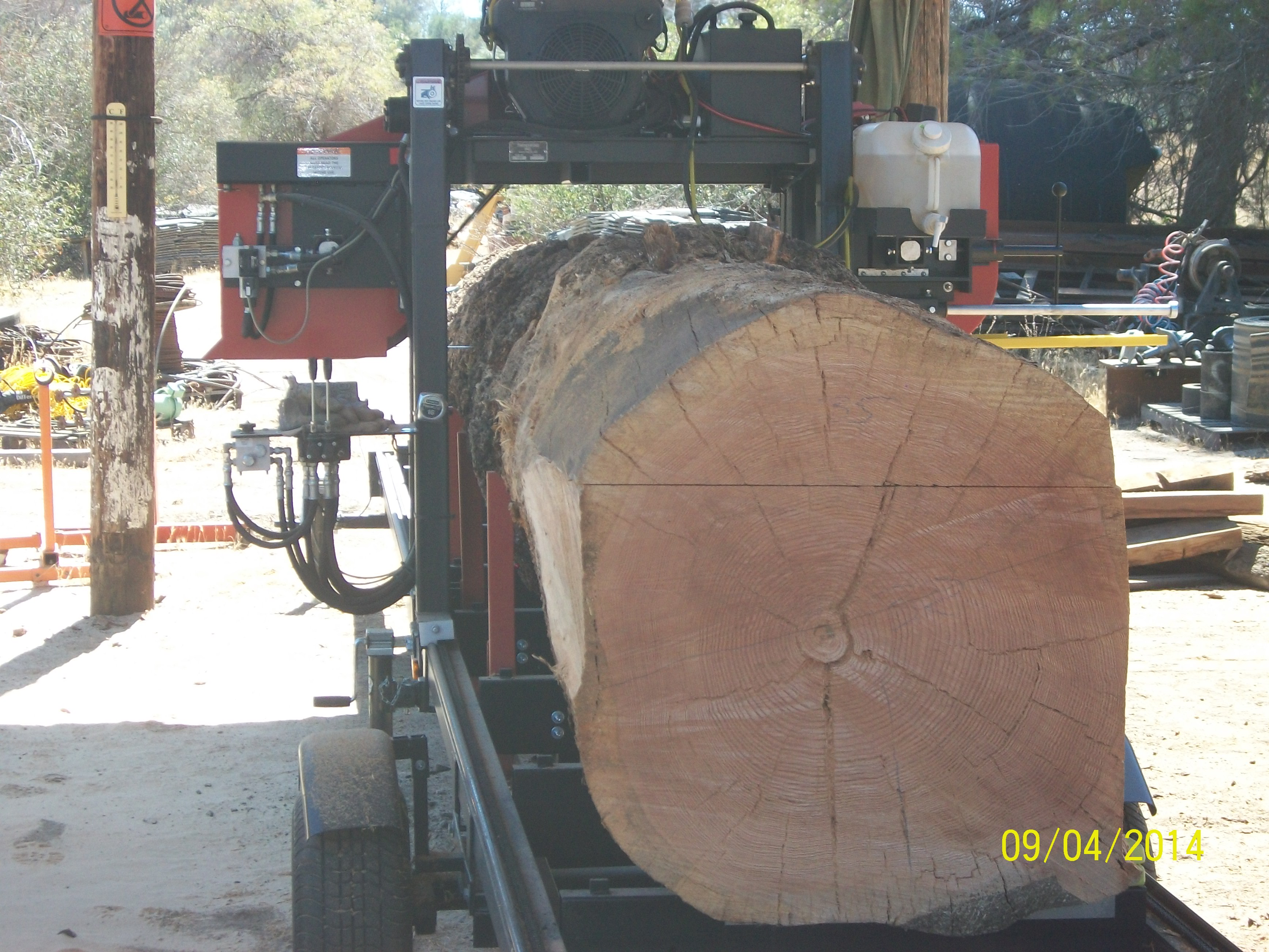 Lumber on the mill at Creston Sawmill