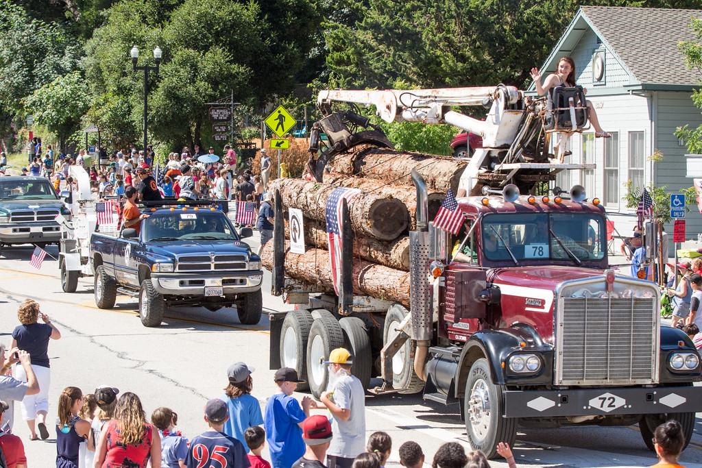 Log Truck, Logging, Parade