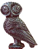 "Bronze Owl Statue 3.5"""