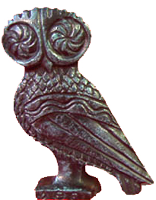 "Bronze Owl Statue 2 3/4"""