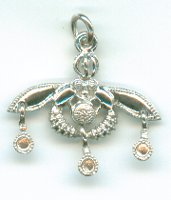 Bees Sterling Silver Pendant
