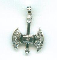Double Ax Pendant Silver Minoan Art