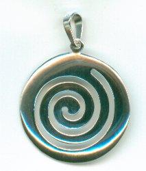 Greek Key Silver Pendant