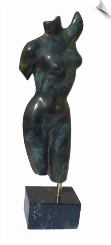 Female Torso Bronze Sculpture