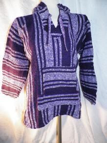 M - Baja Hooded Jacket - White/Purple