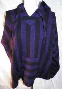 XL - Baja Hooded Jacket - Purple/Black